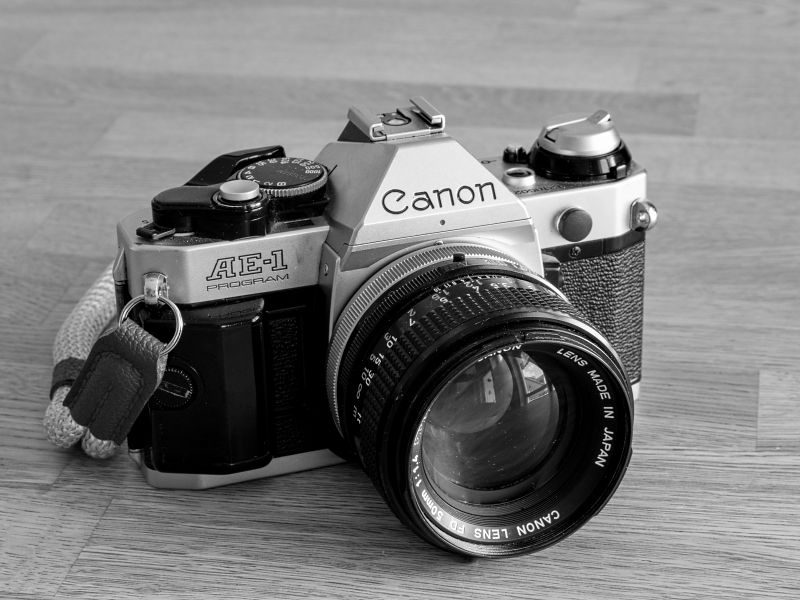 Canon AE-1 Program mit FD 50mm f1,4